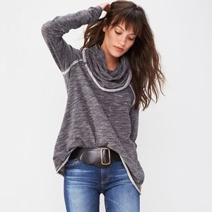 Free People Beach cowl neck sweater gray size L